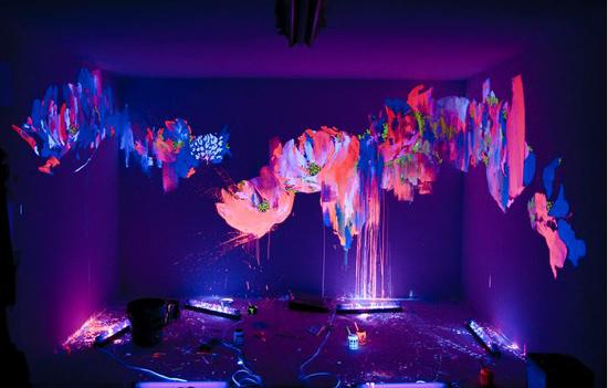 Fluorescent Floor Paint