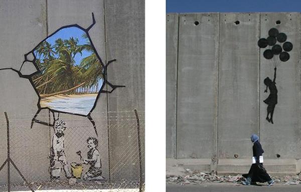 street art sur la bande de Gaza