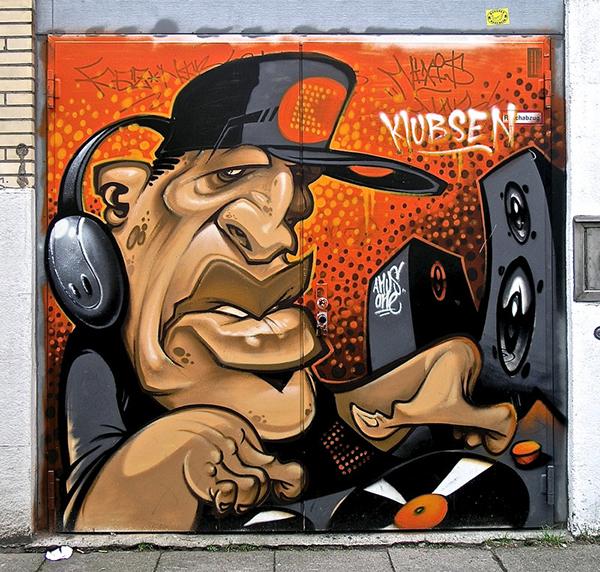 Dee jay graffiti