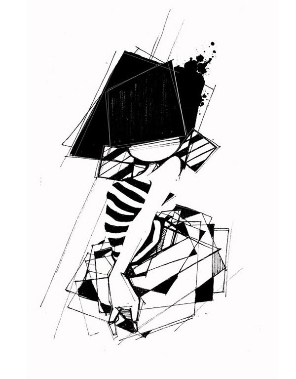 croquis noir et blanc