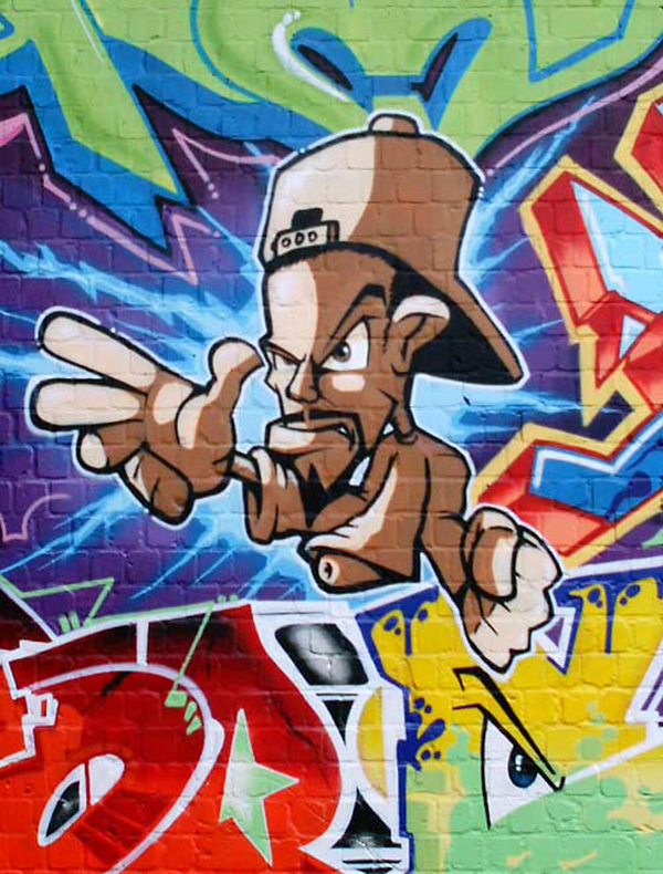 Bboy graffiti allemand
