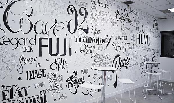 décoration typographie marqueurs Poscas