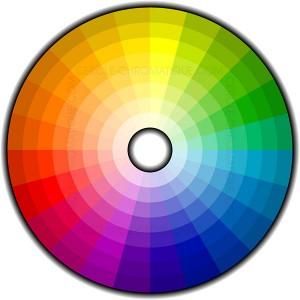 disque montrant un grand nombre de nuances de couleurs