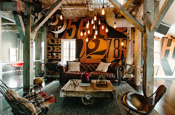 aménagement d'un espace détente très soigné et confortable