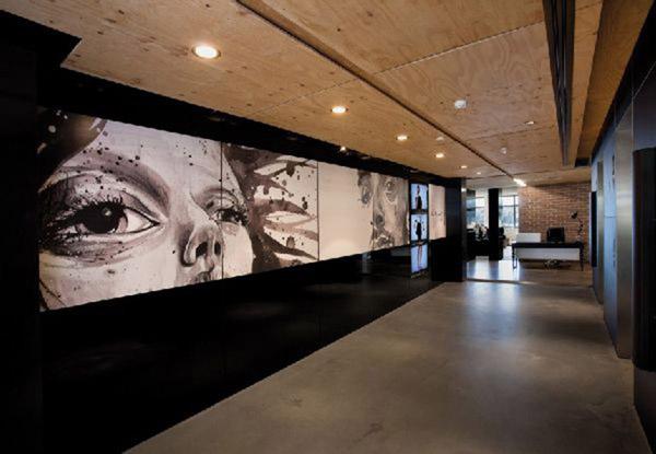 toiles écran de cinema, recordages sur des portrait