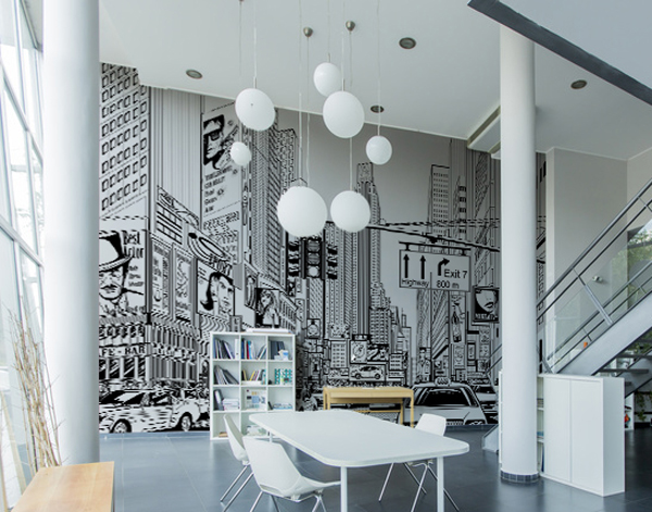 noir et blanc la d coration efficace graffiti et street art. Black Bedroom Furniture Sets. Home Design Ideas