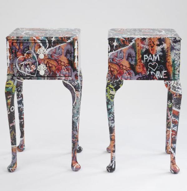 Graffiti sur meuble graffiti et street art for L art du meuble barentin