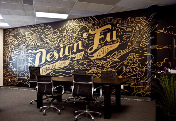 Studio de design de Seattle décoré