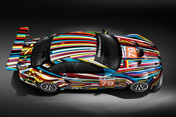 Jeff koons art car for BMW Group