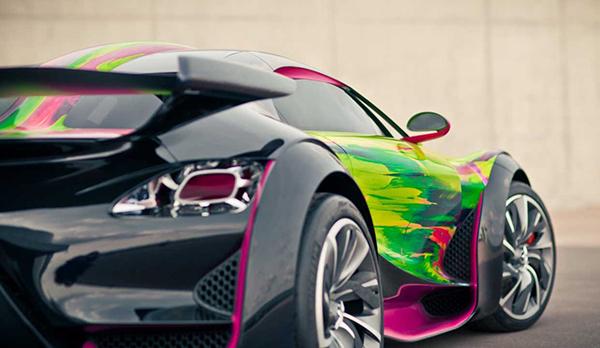 L'art car de l'artiste pour Citroën est une véritable réussite !