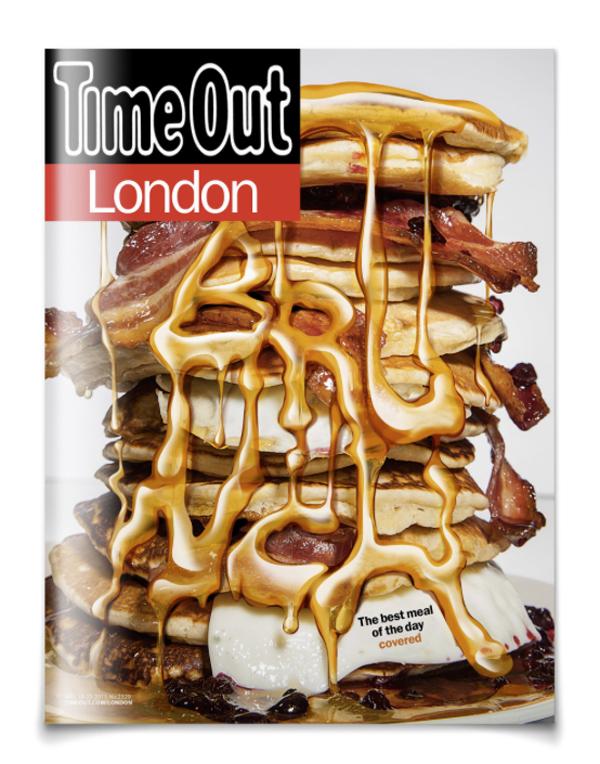 Dessin typographique sur la couverture du magazine anglais