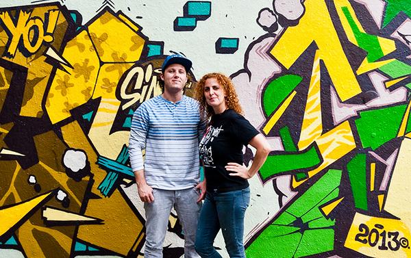 Scien et Klor, artistes graffeurs du collectif 123 Klan