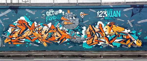 Pionnier de toute une esthétique qui mélange graphisme et graffiti