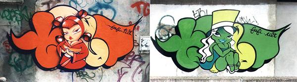 compositions typiques et très identifiables du couple d'artistes