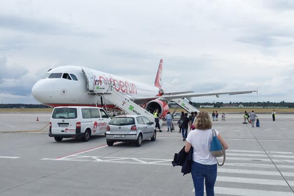 avion, voyage, international, projet, vol, airberlin