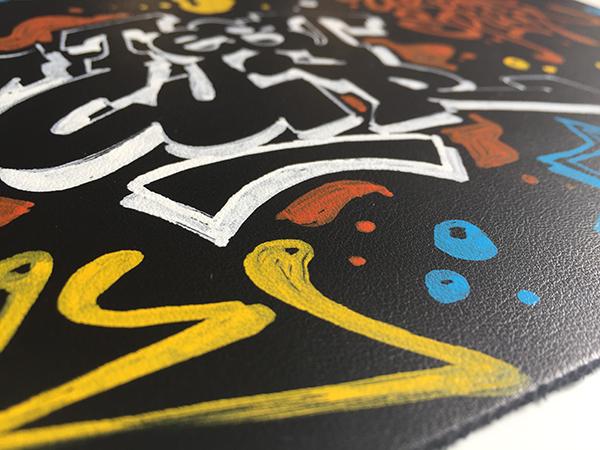 penetre, impregne, couche, peinture, surface, brillance, marqueur, graffiti, personnalisation