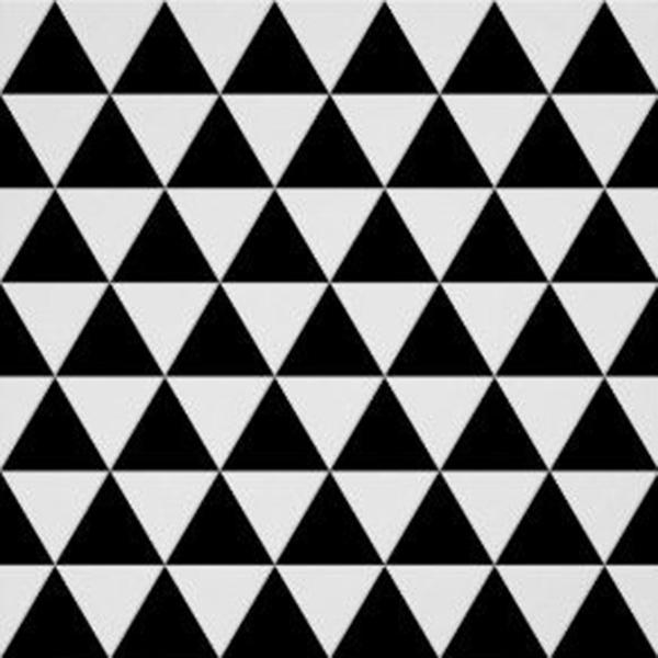 triangles, noir, blanc, damier, régulier, effet, optique