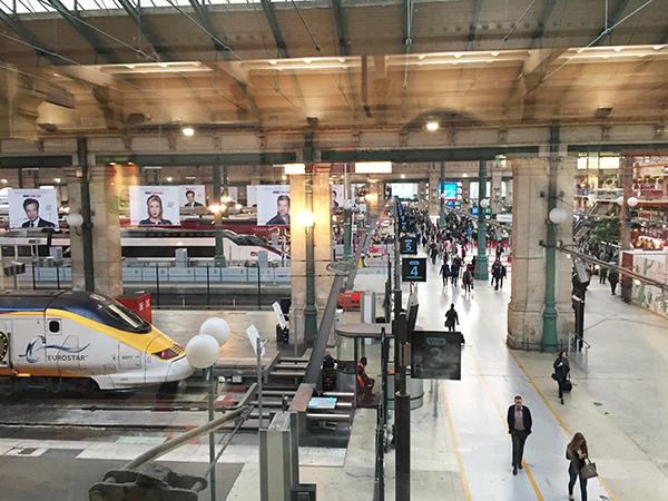 Gare du Nord, gare, train, Eurostar, depart