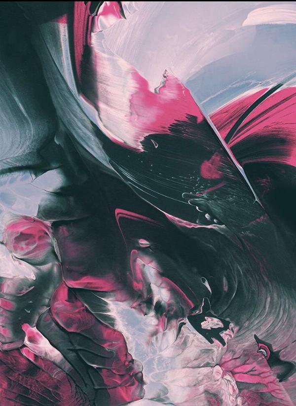 noir, camaïeu, rose, contraste, intensité, mouvement et force