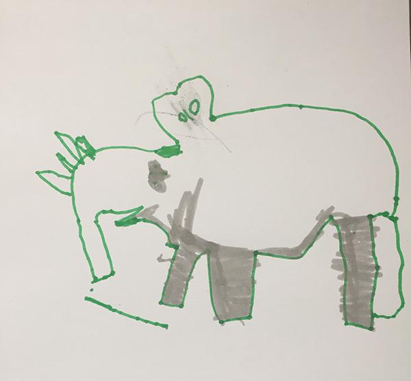 dessin aux feutres par la jeune illustratrice de Talent Leyna