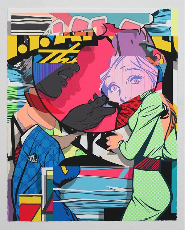 art contemporain urbain, toile , exposition états unis d'Amérique