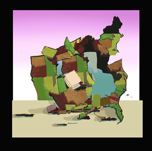 peinture abstraite de l'artiste.